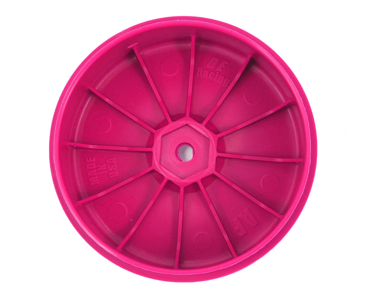 DE Racing Speedline PLUS 2.4 1/10 Buggy Front Wheel (2) (Pink)