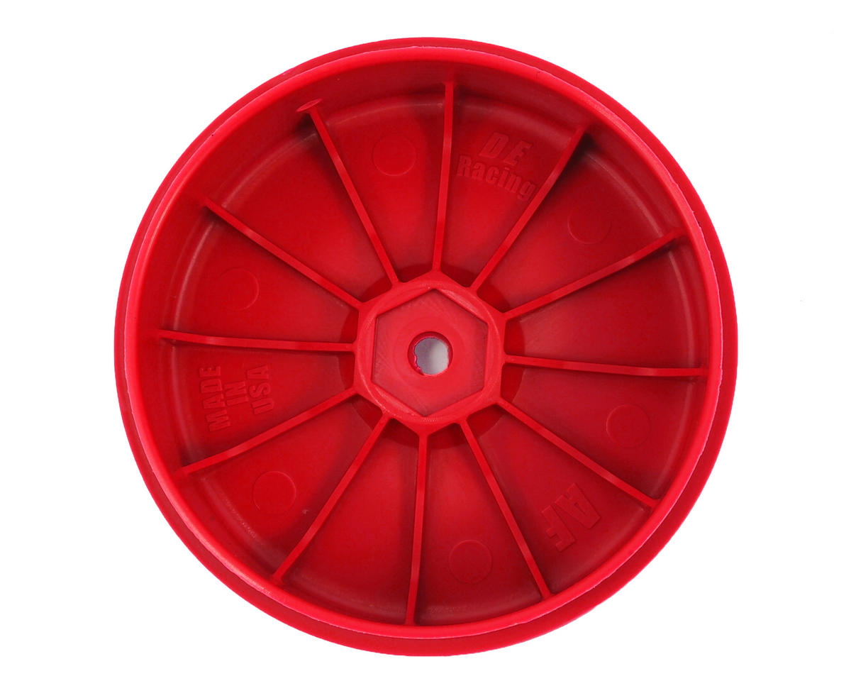 DE Racing Speedline PLUS 2.4 1/10 Buggy Front Wheel (2) (Red)