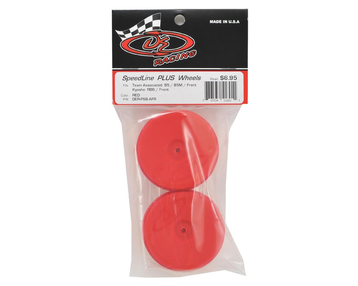DE Racing Speedline PLUS 2.4 1/10 Buggy Front Wheel (2) (Red)