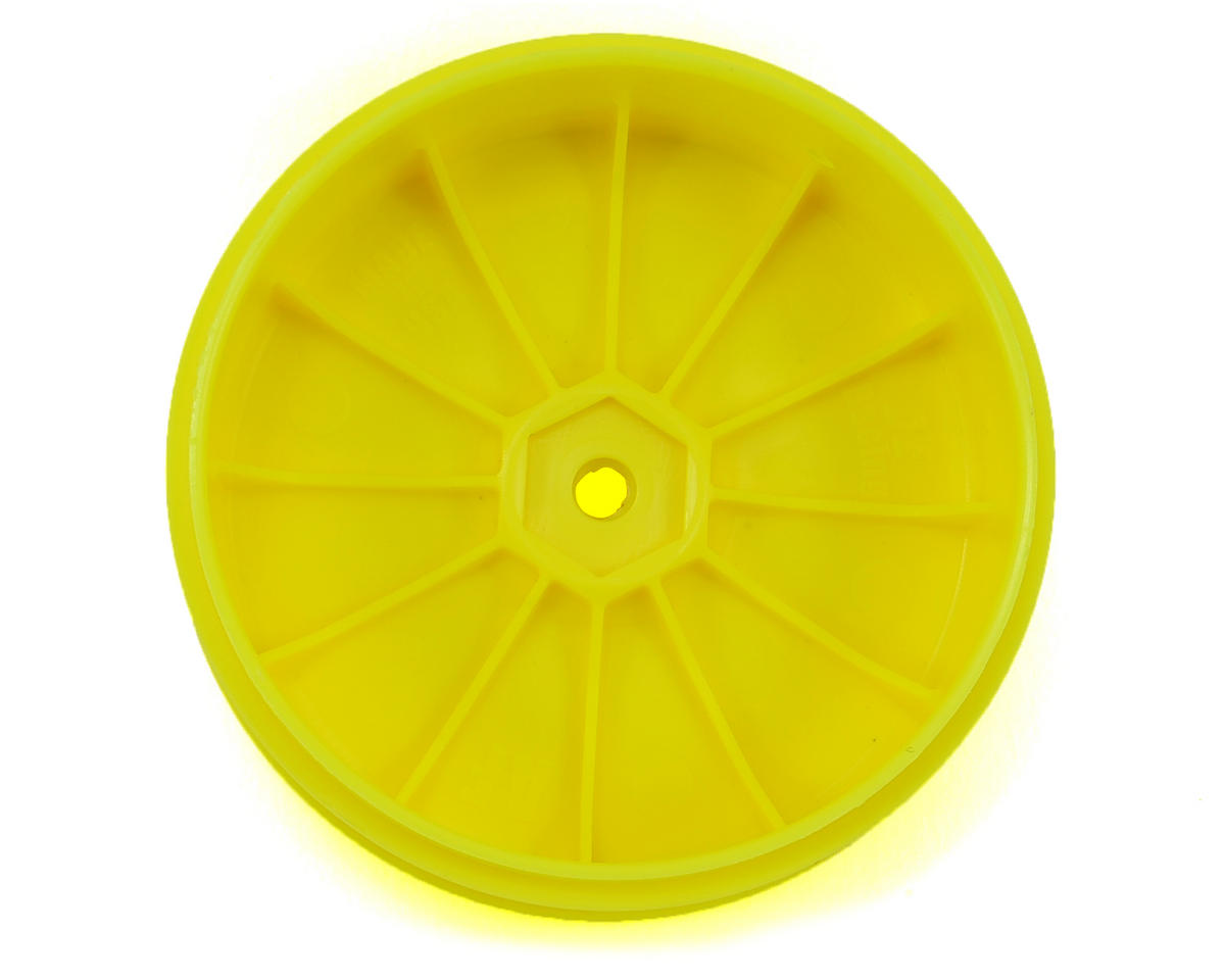 DE Racing Speedline PLUS 2.4 1/10 Buggy Front Wheel (2) (Yellow)