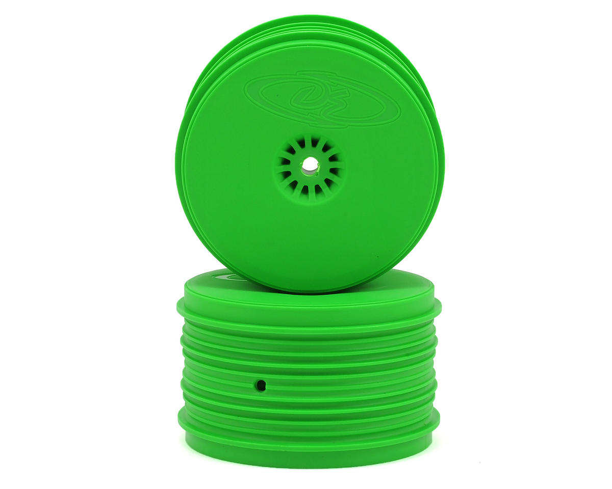 DE Racing Speedline PLUS 2.4 1/10 Buggy Rear Wheel (2) (Green)