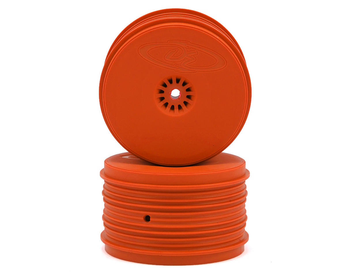 Speedline PLUS 2.4 1/10 Buggy Rear Wheel (2) (Orange) by DE Racing