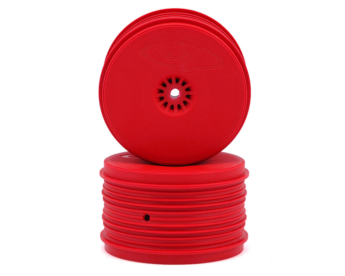 DE Racing Speedline PLUS 2.4 1/10 Buggy Rear Wheel (2) (Red)
