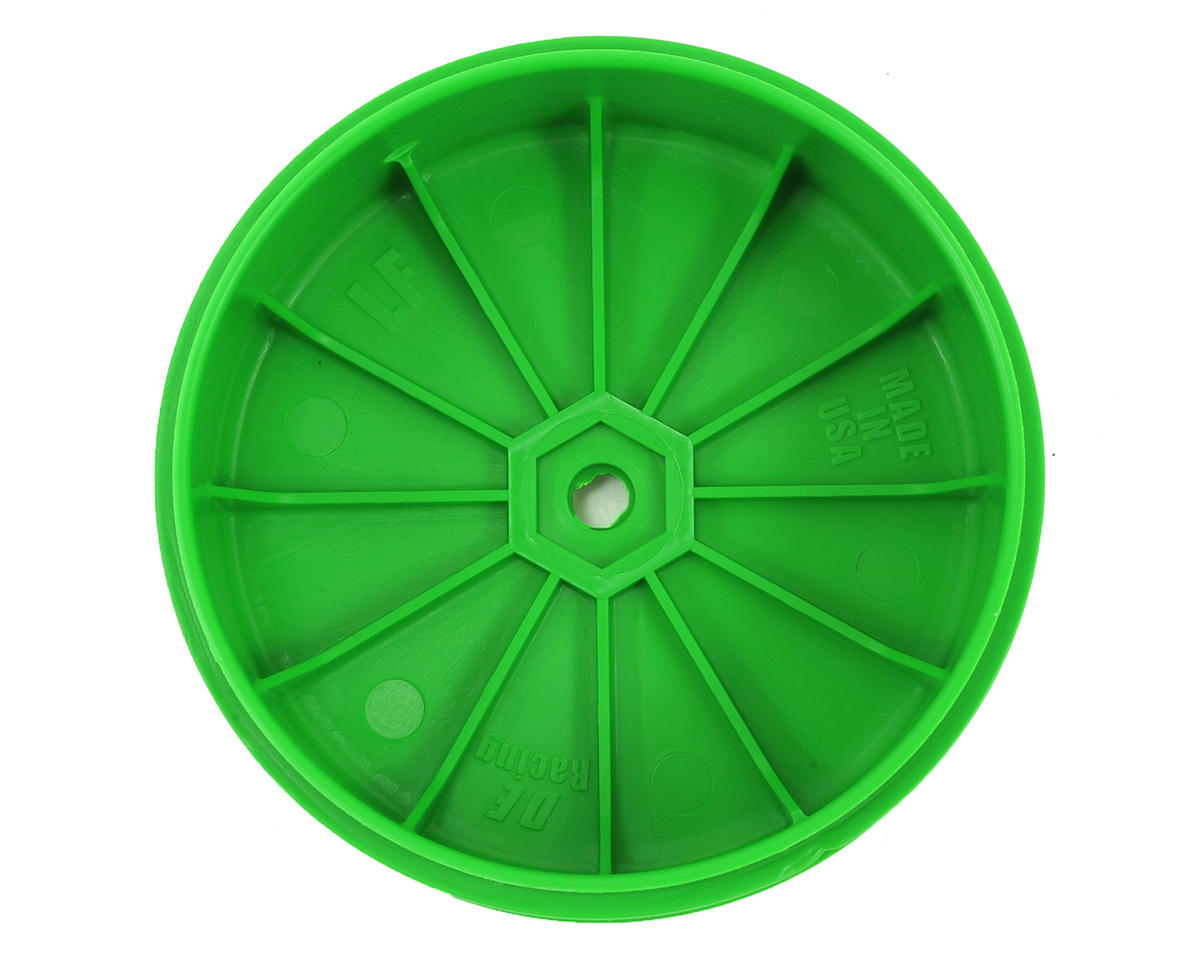 DE Racing Speedline PLUS 2.4 1/10 Buggy Front Wheel (2) (22 2.0) (Green)