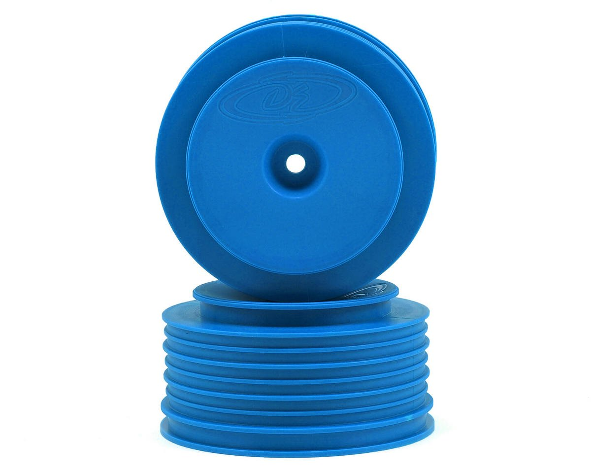 "DE Racing 12mm Hex ""Speedline PLUS"" Short Course Wheels (Blue) (2) (SC5M) (Team Associated SC10 4x4)"
