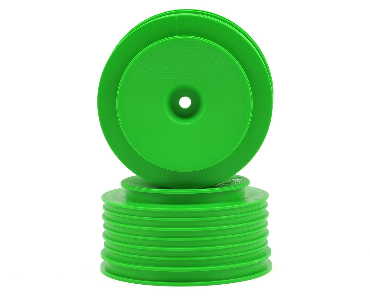"DE Racing 12mm Hex ""Speedline PLUS"" Short Course Wheels (Green) (2) (SC5M) (Team Associated SC10B)"