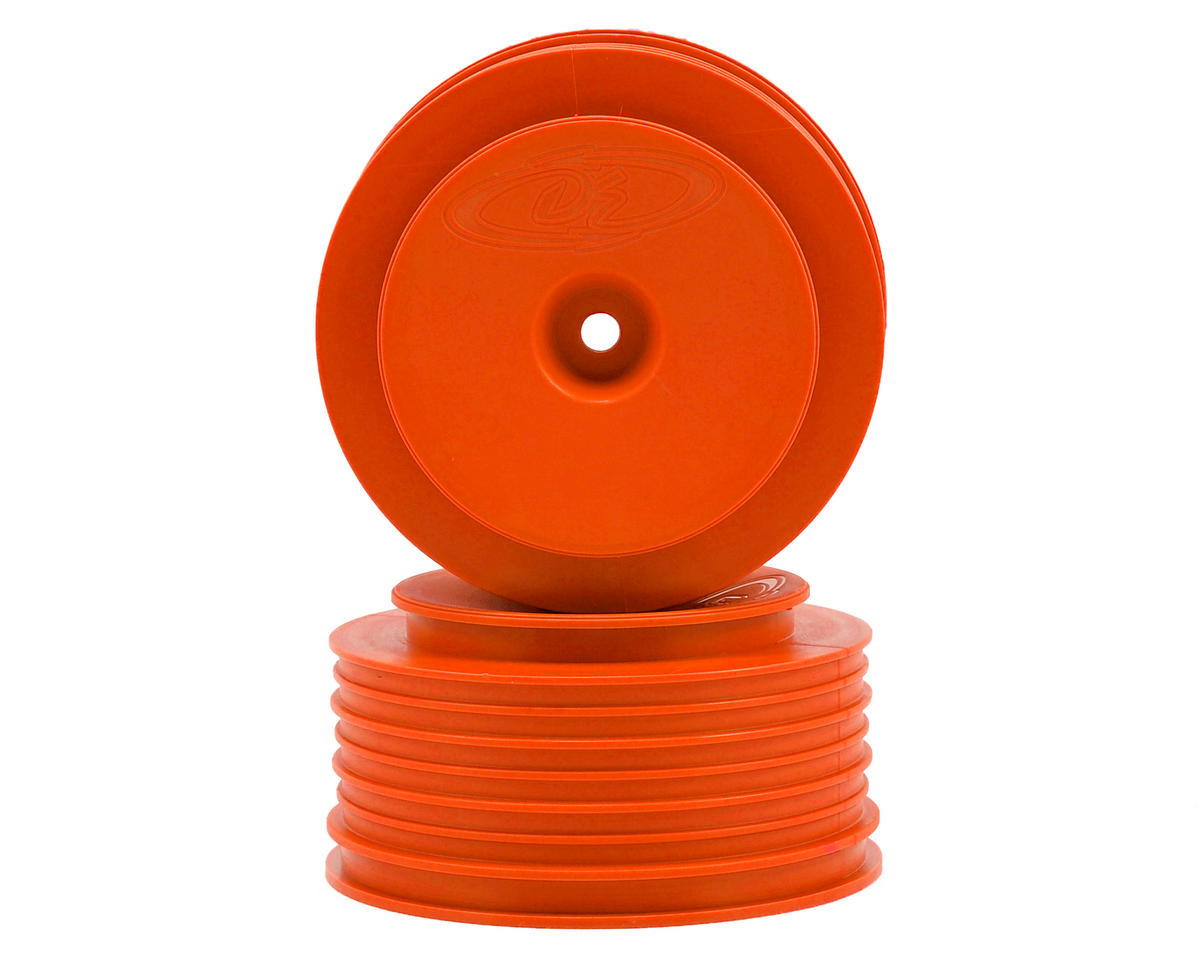 "DE Racing 12mm Hex ""Speedline PLUS"" Short Course Wheels (Orange) (2) (SC5M) (Team Associated SC10 4x4)"