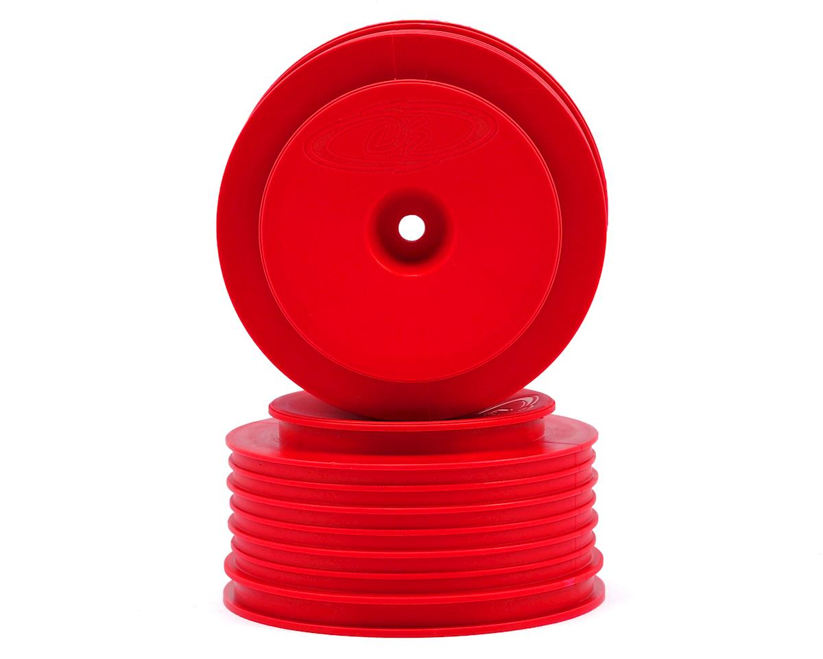 "DE Racing 12mm Hex ""Speedline PLUS"" Short Course Wheels (Red) (2) (SC5M)"