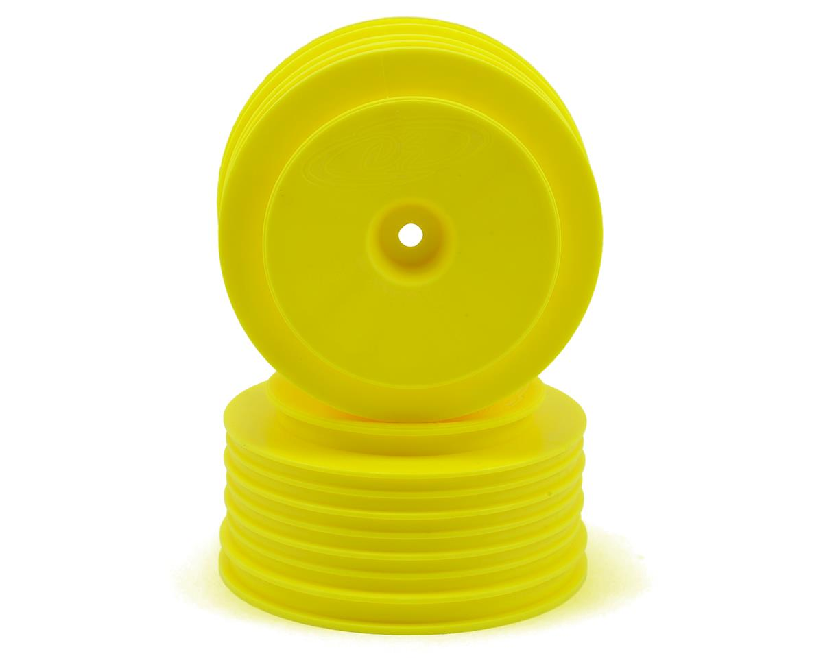 "DE Racing 12mm Hex ""Speedline PLUS"" Short Course Wheels (Yellow) (2) (SC5M) (Team Associated SC10 4x4)"