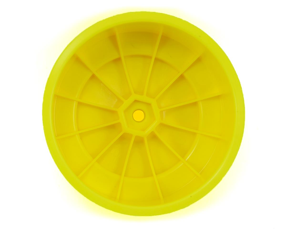 "DE Racing 12mm Hex ""Speedline PLUS"" Short Course Wheels (Yellow) (2) (SC5M)"