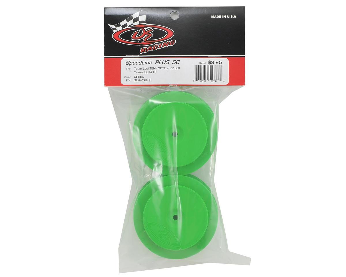 DE Racing Speedline PLUS Short Course Wheels (Green) (2)