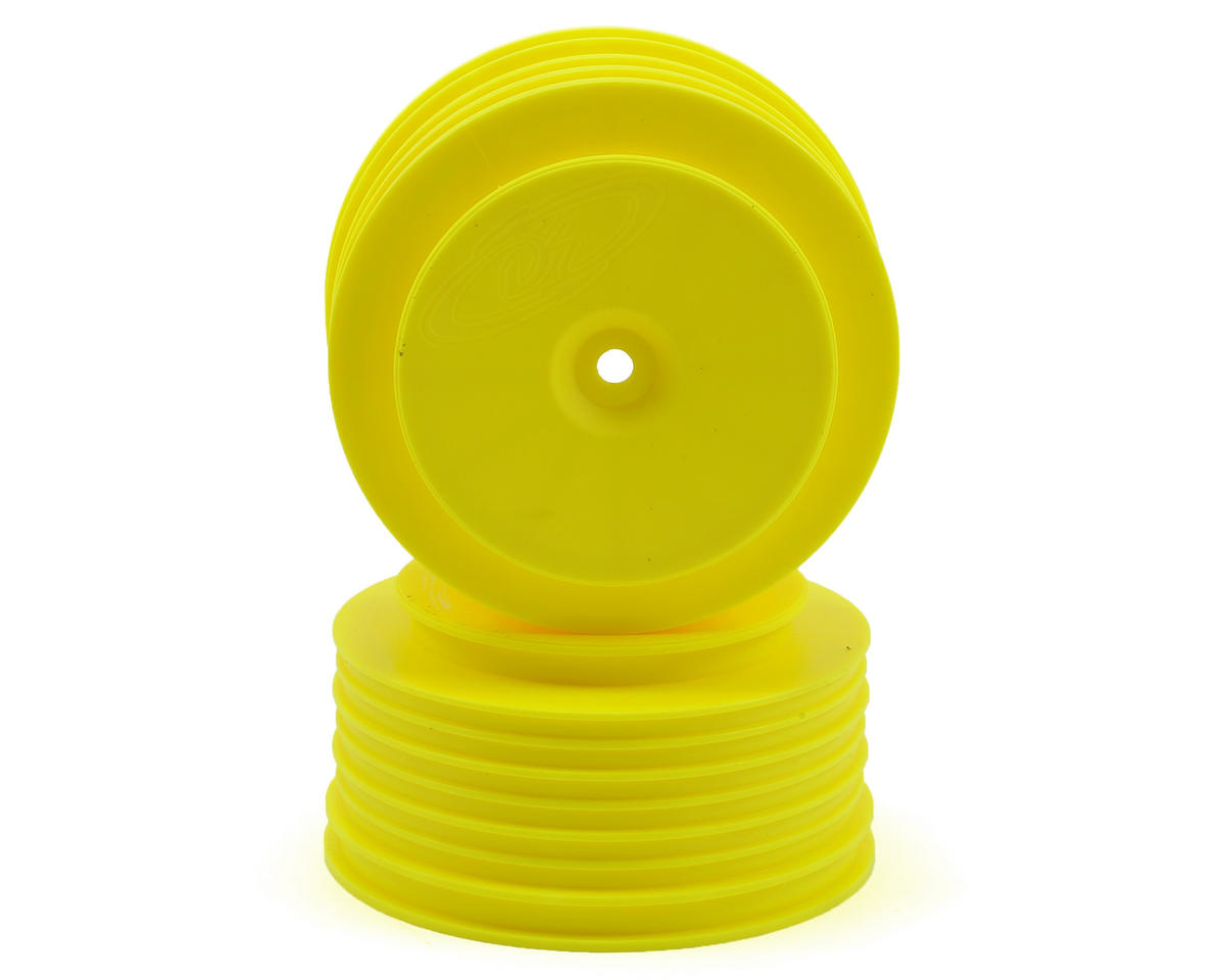 DE Racing Speedline PLUS Short Course Wheels (Yellow) (2) (Losi TEN-SCT Nitro)