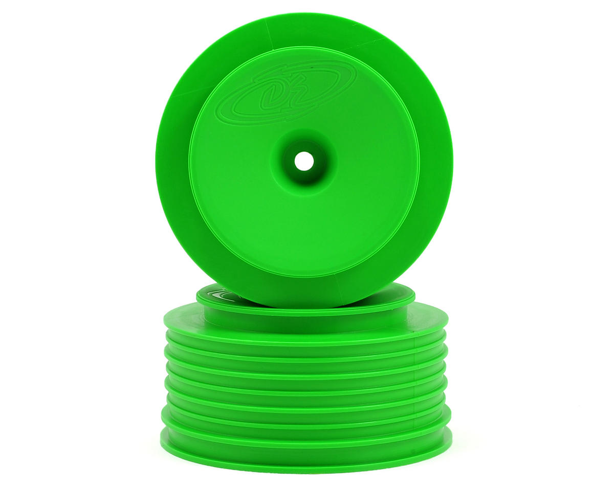 Speedline PLUS Short Course Wheels (Green) (2) (SC6/Slash/Blitz) by DE Racing
