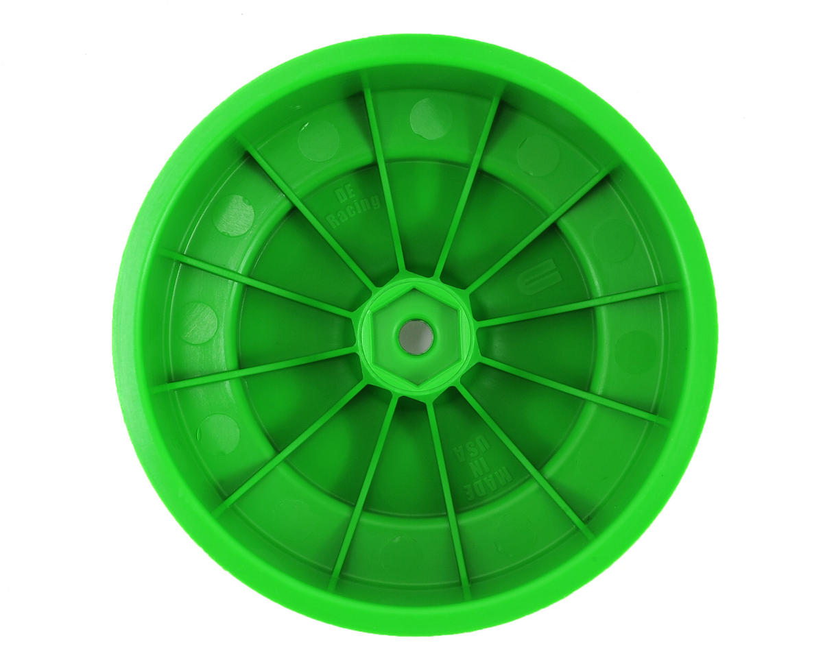 DE Racing Speedline PLUS Short Course Wheels (Green) (2) (SC6/Slash/Blitz)