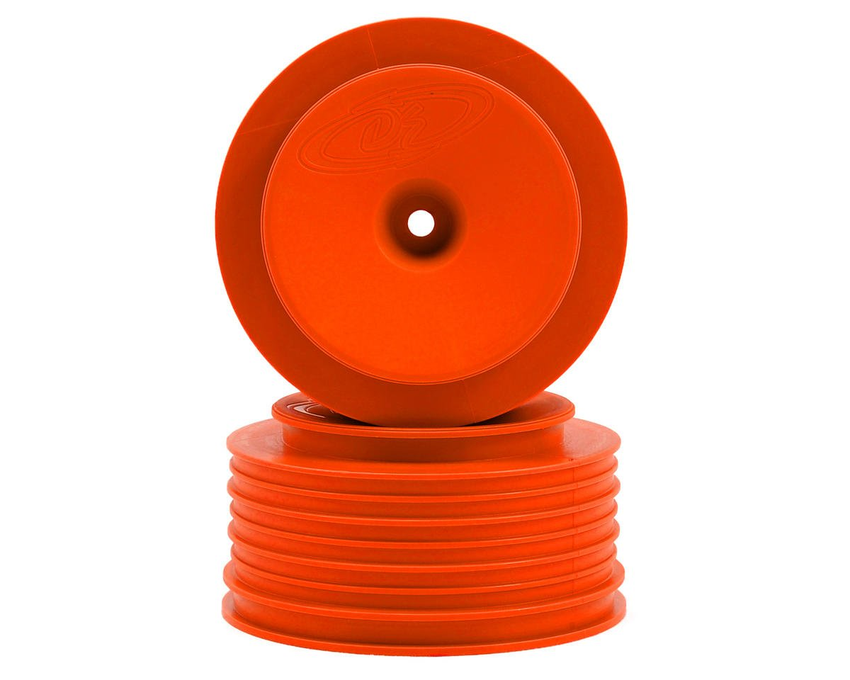 DE Racing Speedline PLUS Short Course Wheels (Orange) (2) (SC6/Slash/Blitz)