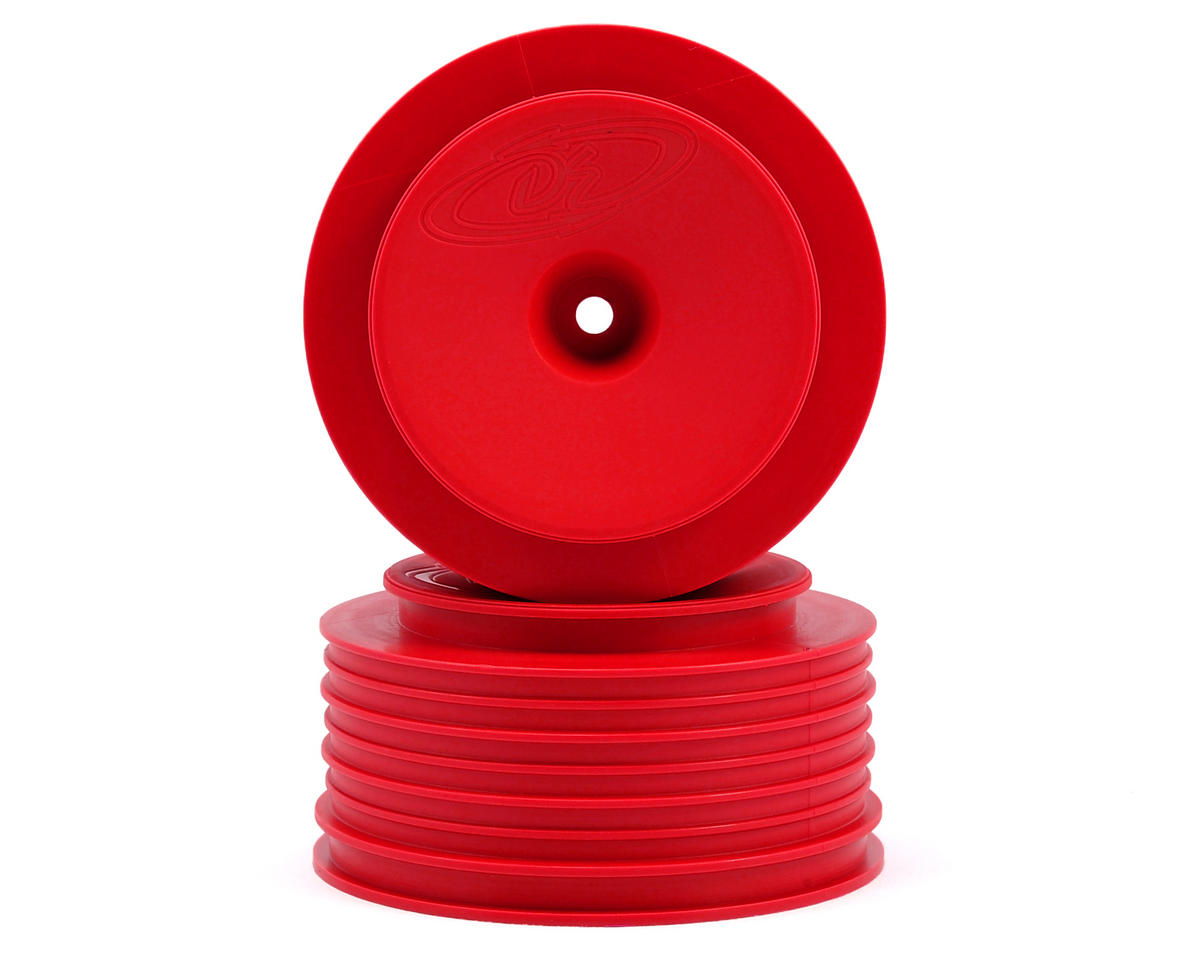 Speedline PLUS Short Course Wheels (Red) (2) (SC6/Slash/Blitz) by DE Racing