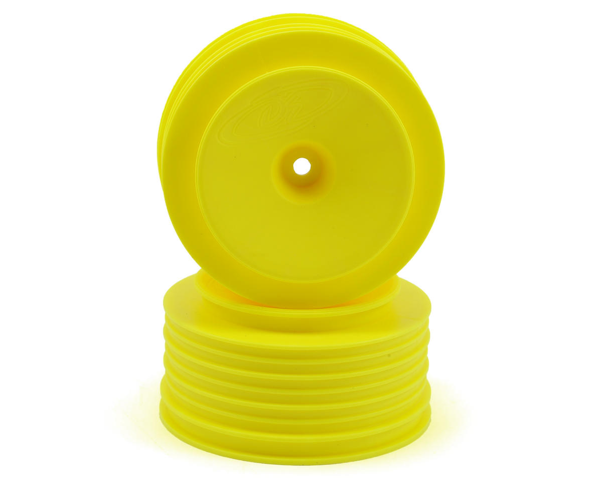 DE Racing Speedline PLUS Short Course Wheels (Yellow) (2) (SC6/Slash/Blitz)
