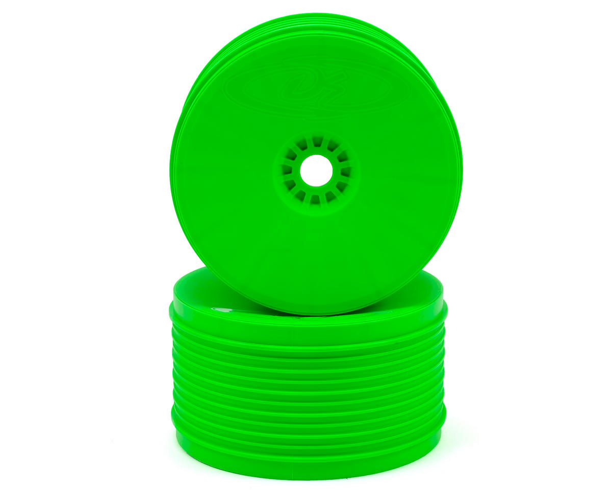 "DE Racing ""SpeedLine PLUS"" 1/8 Truggy Wheel (2) (Green)"