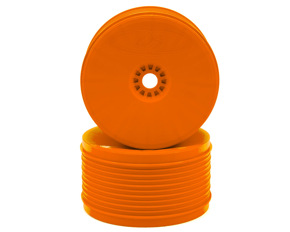 "DE Racing ""SpeedLine PLUS"" 1/8 Truggy Wheel (2) (Orange)"