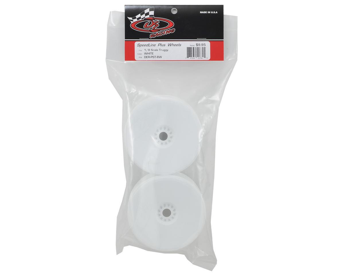 """DE Racing """"SpeedLine PLUS"""" 1/8 Truggy Wheel (2) (White)"""