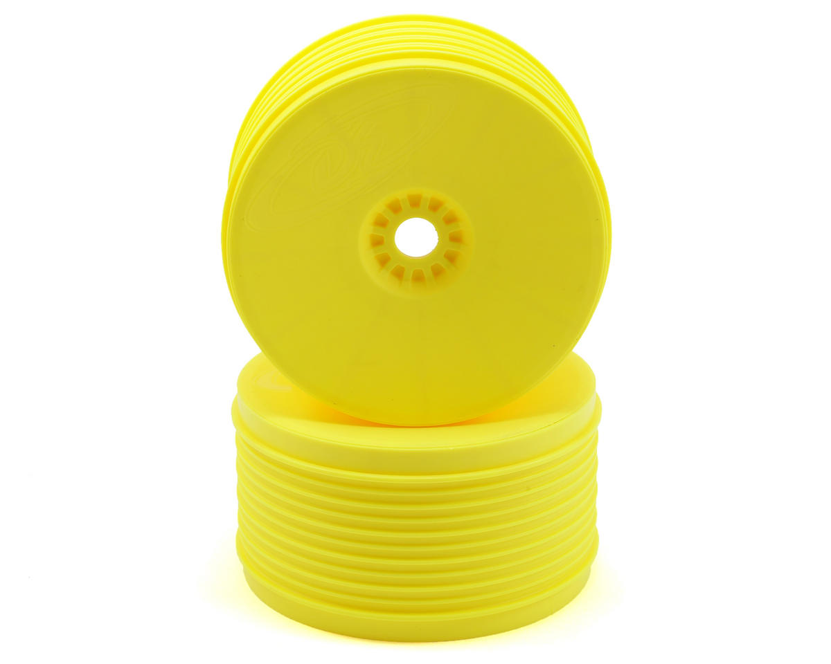 "DE Racing ""SpeedLine PLUS"" 1/8 Truggy Wheel (2) (Yellow)"