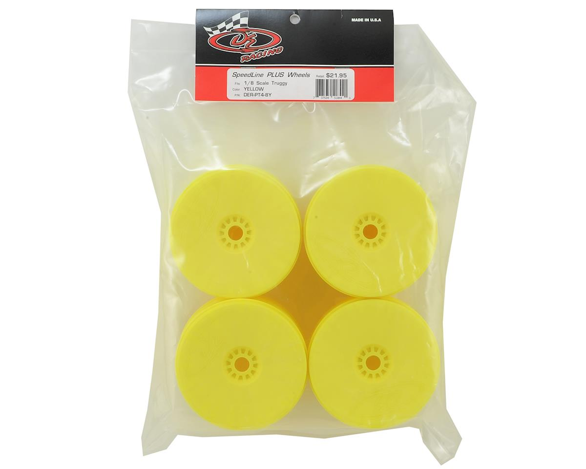 """SpeedLine PLUS"" 1/8 Truggy Wheel (4) (Yellow) by DE Racing"