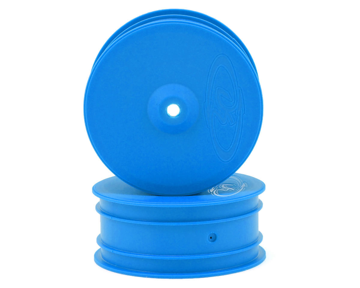 "9.5mm Hex ""Speedline"" 2.2 4WD Front Buggy Wheels(2) (B44.2) (Blue) by DE Racing"