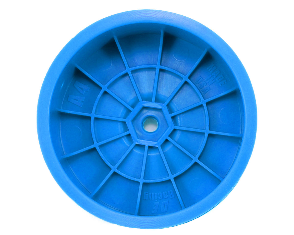 "DE Racing 9.5mm Hex ""Speedline"" 2.2 4WD Front Buggy Wheels(2) (B44.2) (Blue)"