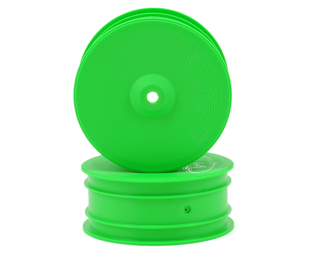 "DE Racing 9.5mm Hex ""Speedline"" 2.2 4WD Front Buggy Wheels(2) (B44.2) (Green)"