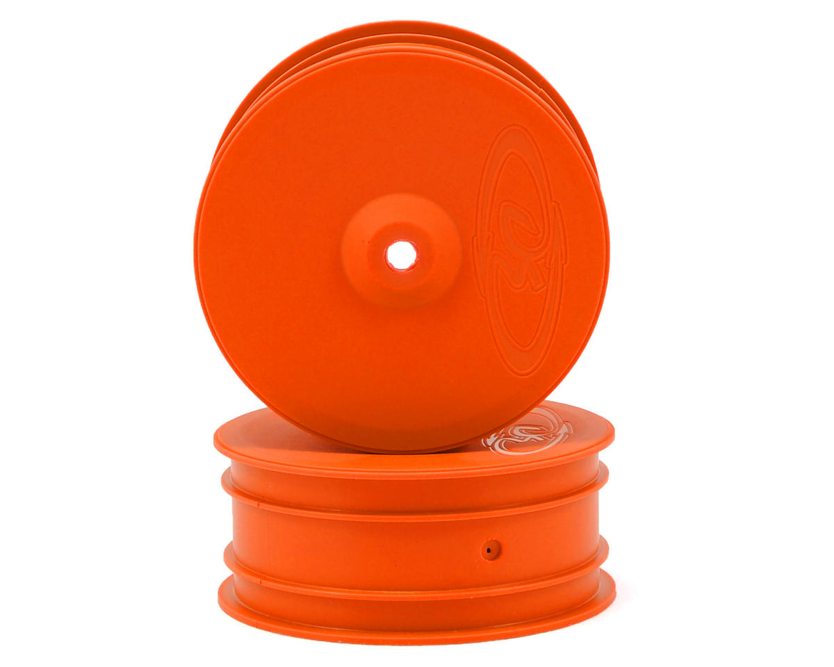 "DE Racing 9.5mm Hex ""Speedline"" 2.2 4WD Front Buggy Wheels(2) (B44.2) (Orange)"