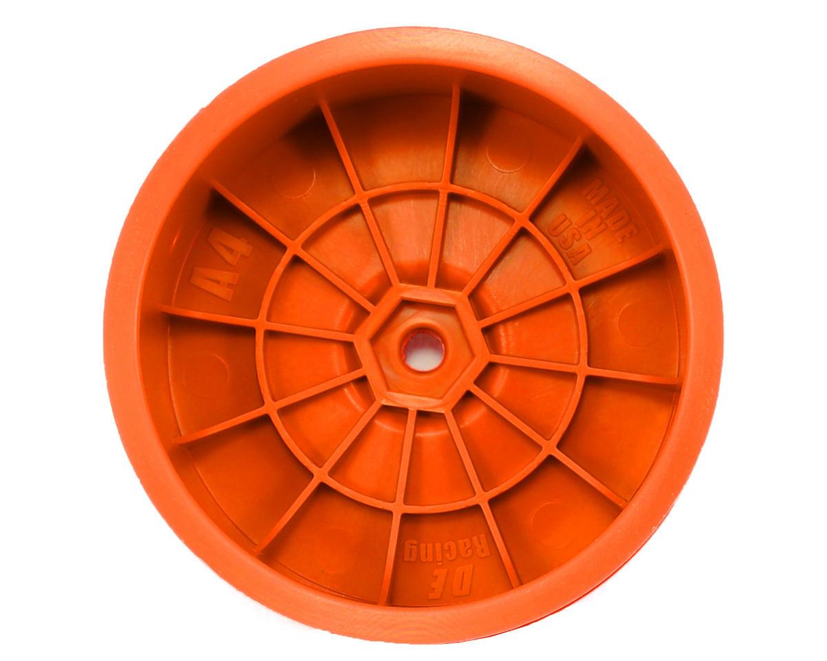 """9.5mm Hex """"Speedline"""" 2.2 4WD Front Buggy Wheels(2) (B44.2) (Orange) by DE Racing"""