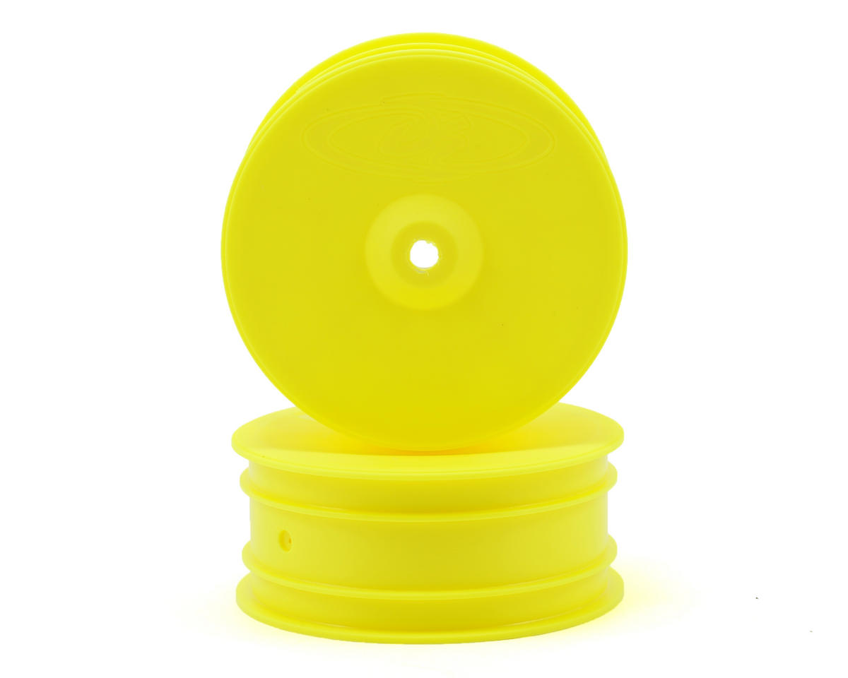 "DE Racing 9.5mm Hex ""Speedline"" 2.2 4WD Front Buggy Wheels(2) (B44.2) (Yellow)"