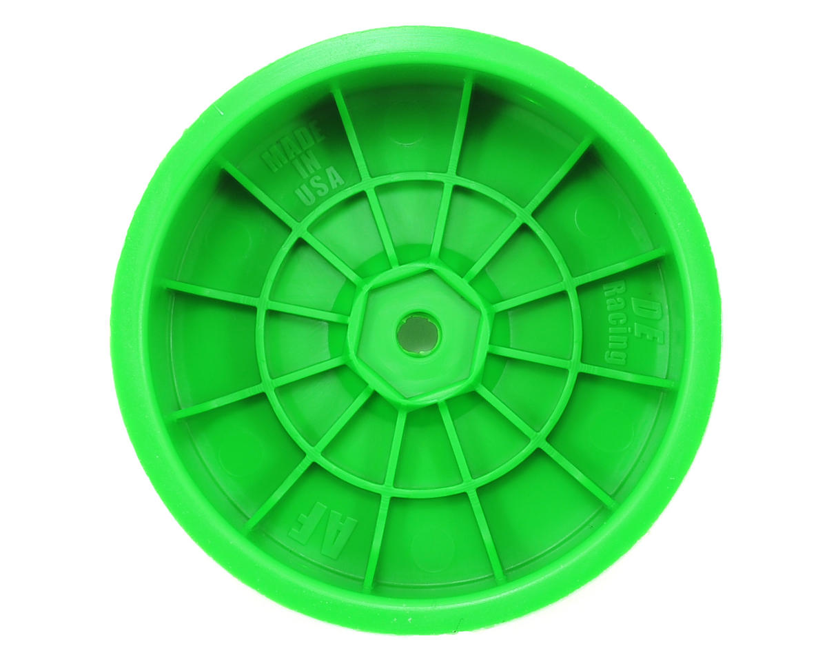 "DE Racing 12mm Hex ""Speedline"" 2.2 1/10 Buggy Front Wheels (2) (B6/RB6) (Green)"