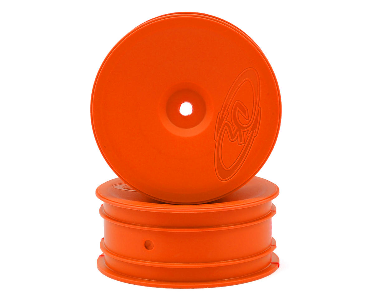 "12mm Hex ""Speedline"" 2.2 1/10 Buggy Front Wheels (2) (B6/RB6) (Orange) by DE Racing"