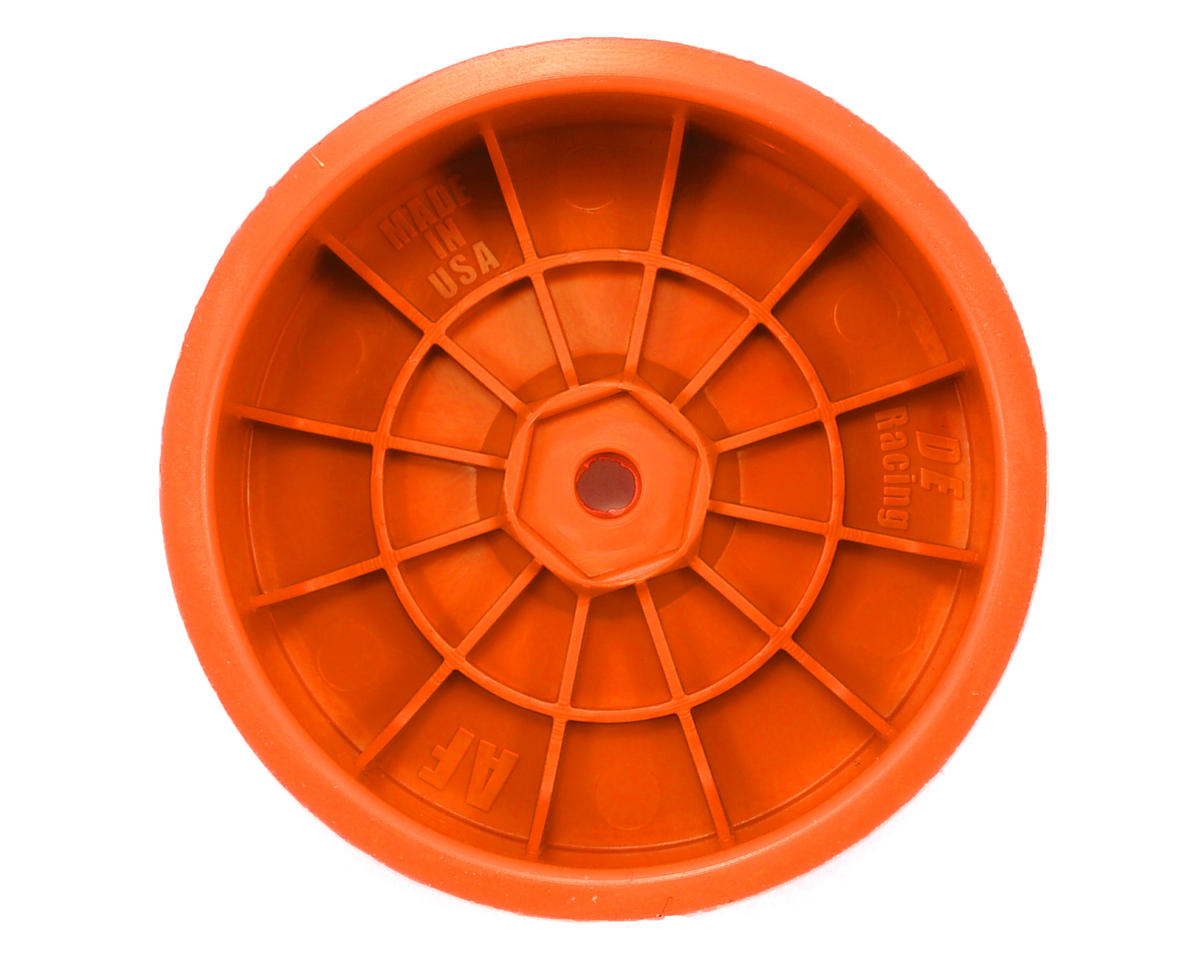 "DE Racing 12mm Hex ""Speedline"" 2.2 1/10 Buggy Front Wheels (2) (B6/RB6) (Orange)"