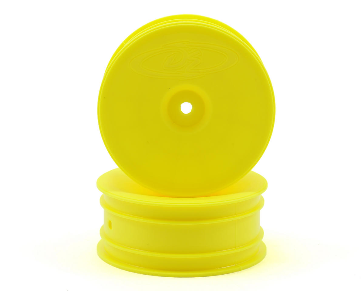 "DE Racing 12mm Hex ""Speedline"" 2.2 1/10 Buggy Front Wheels (2) (B6/RB6) (Yellow)"
