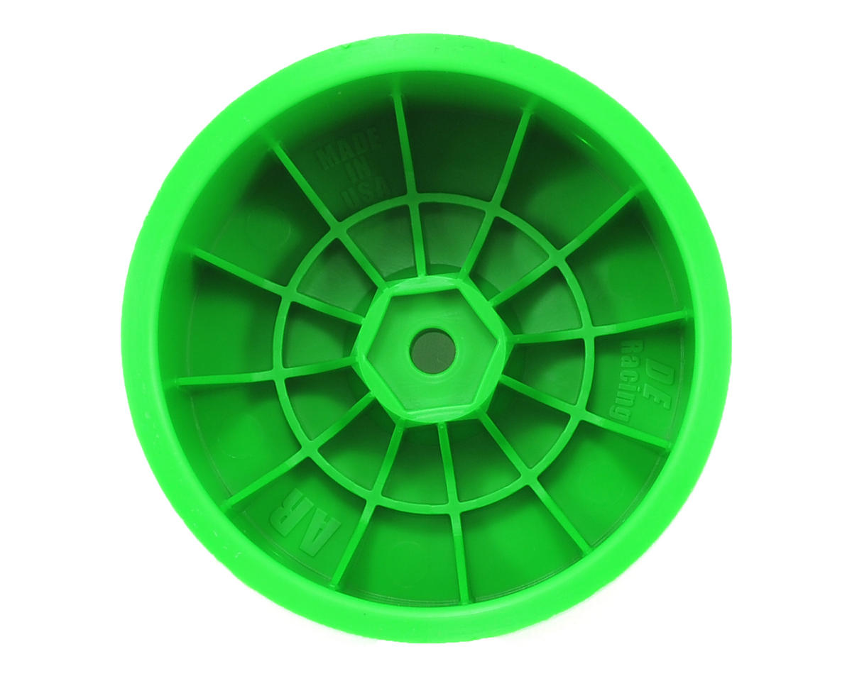 DE Racing Speedline 2.2 1/10 Buggy Rear Wheels (2) (B6/B44.3/22/22-4) (Green)