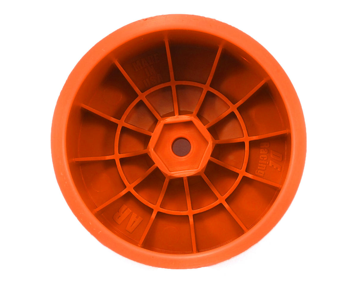 Speedline 2.2 1/10 Buggy Rear Wheels (2) (B6/B64/22/22-4) (Orange) by DE Racing