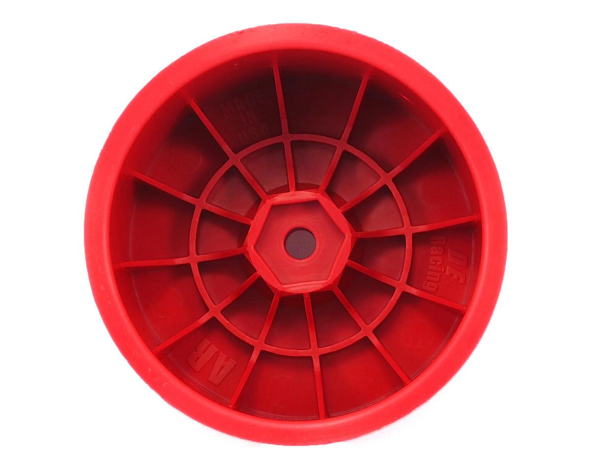 """DE Racing 12mm Hex """"Speedline"""" 2.2 1/10 Buggy Rear Wheel (2) (B6/RB6/22) (Red)"""