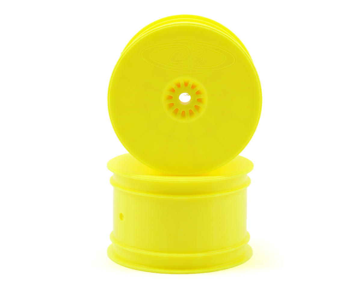 Speedline 2.2 1/10 Buggy Rear Wheels (2) (B6/B44.3/22/22-4) (Yellow) by DE Racing