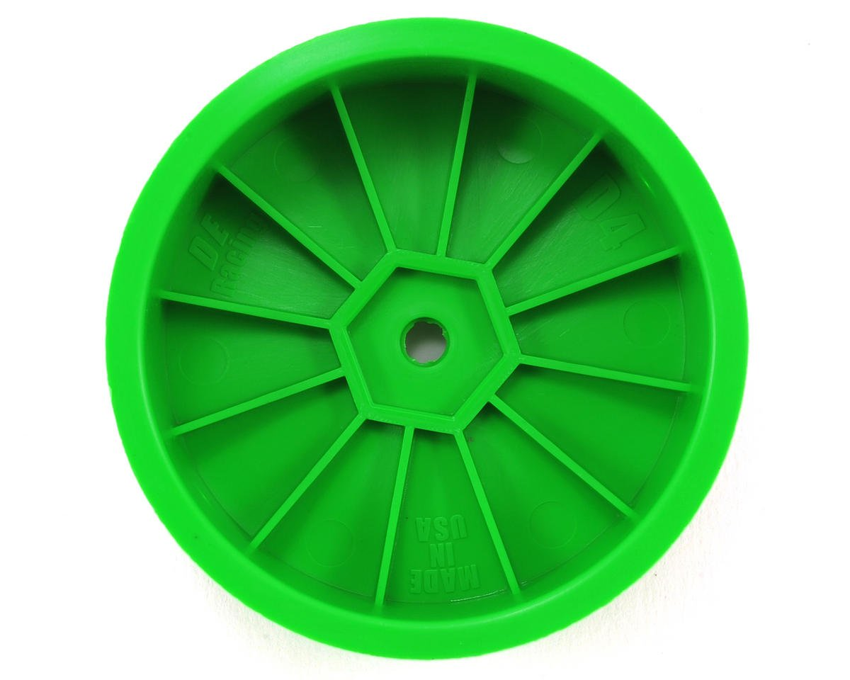 "DE Racing 14mm Hex ""Speedline"" 2.2 4WD Front Buggy Wheels (2) (DEX410) (Green)"