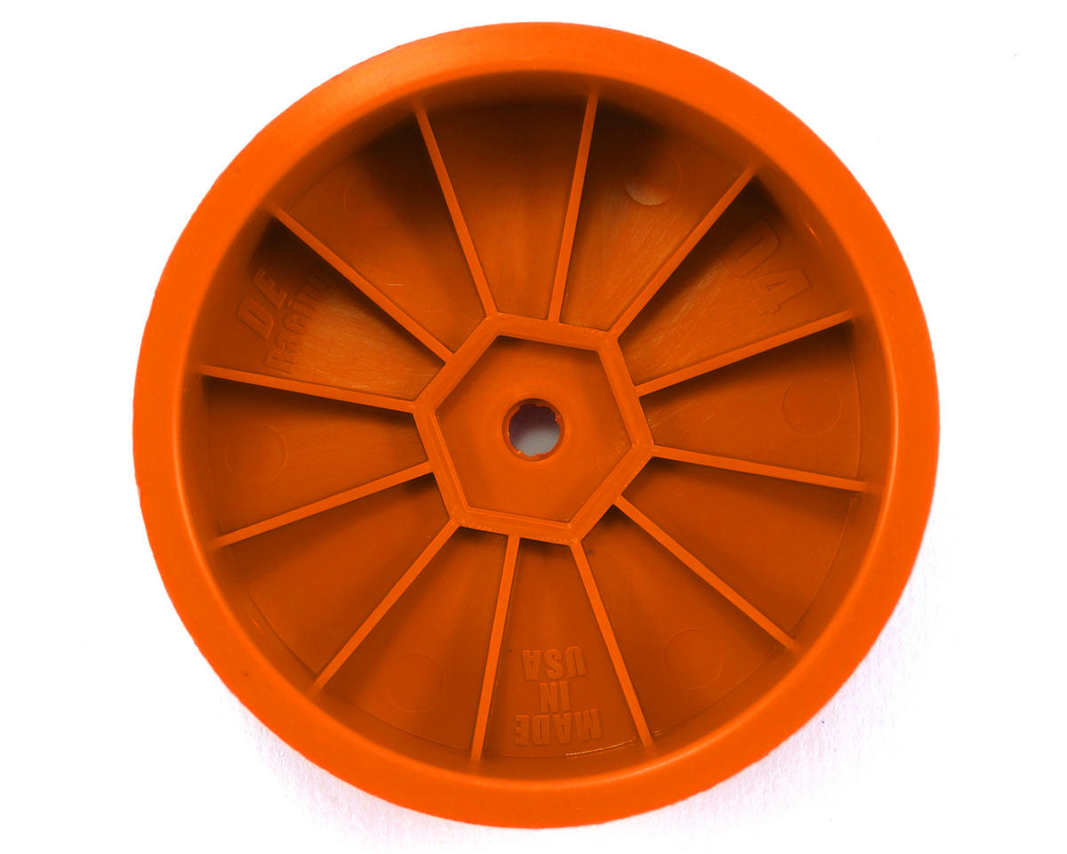 "DE Racing 14mm Hex ""Speedline"" 2.2 4WD Front Buggy Wheels (2) (DEX410) (Orange)"