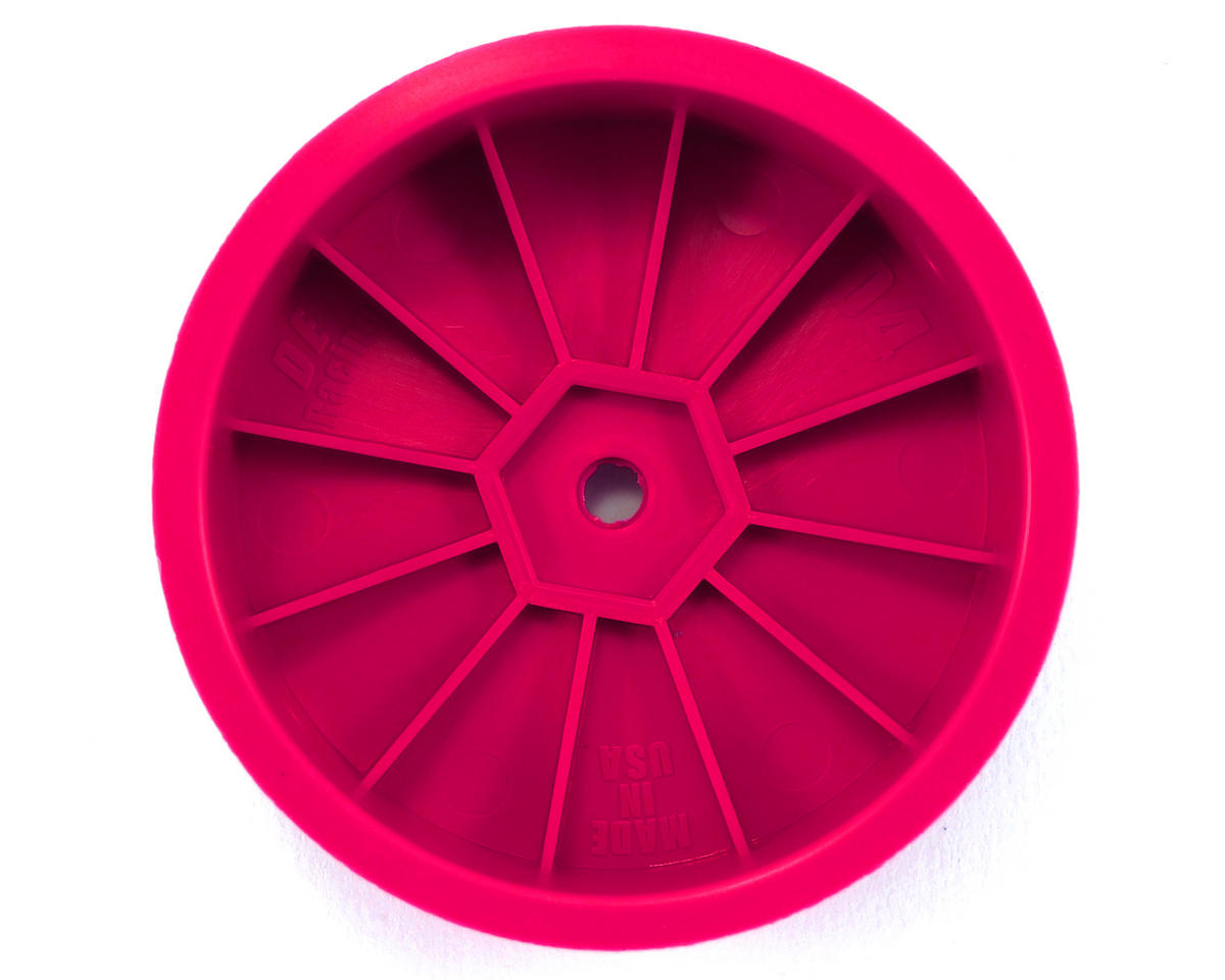 "DE Racing 14mm Hex ""Speedline"" 2.2 4WD Front Buggy Wheels (2) (DEX410) (Pink)"