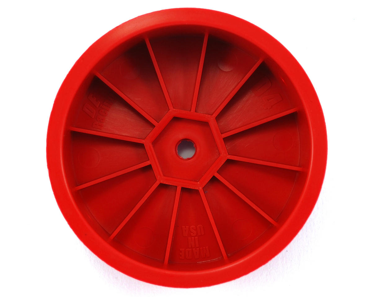 "DE Racing 14mm Hex ""Speedline"" 2.2 4WD Front Buggy Wheels (2) (DEX410) (Red)"