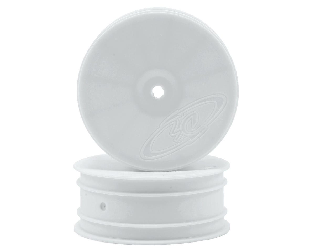 "DE Racing 14mm Hex ""Speedline"" 2.2 4WD Front Buggy Wheels (2) (DEX410) (White)"