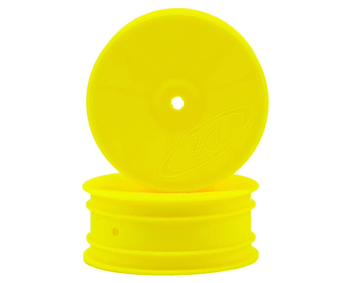 "DE Racing 14mm Hex ""Speedline"" 2.2 4WD Front Buggy Wheels (2) (DEX410) (Yellow)"