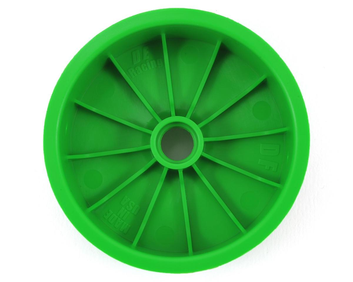 """DE Racing """"Speedline"""" 2.2 1/10 Buggy Front Wheels (2) (DEX210) (Green) (Pins)"""