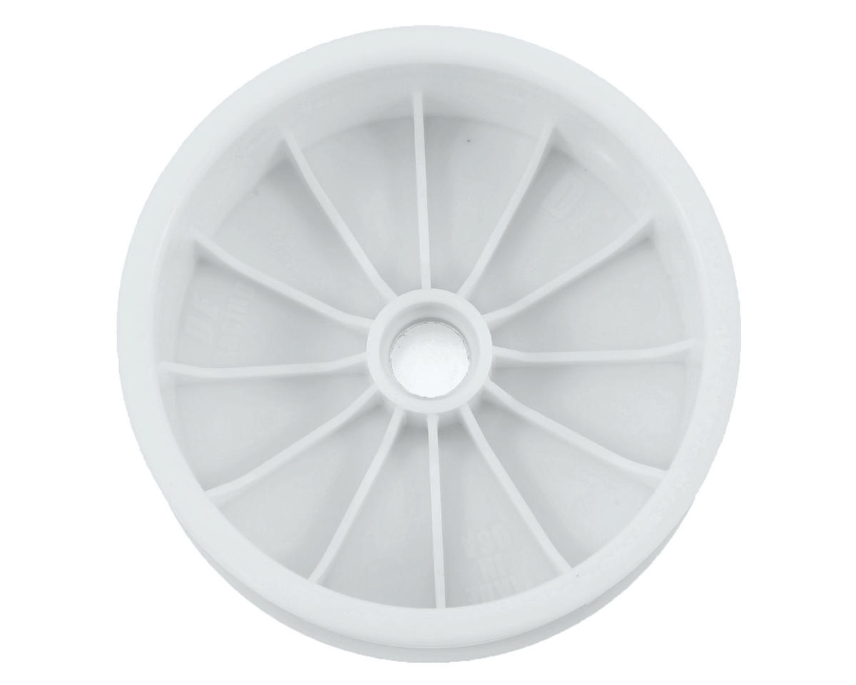 "DE Racing ""Speedline"" 2.2 1/10 Buggy Front Wheels (2) (DEX210) (White) (Pins)"