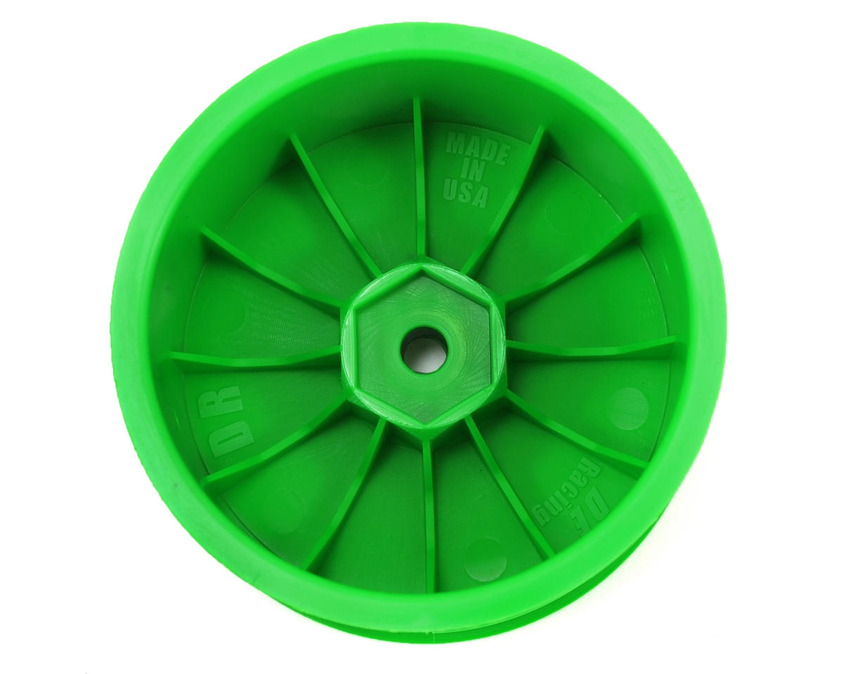 DE Racing Speedline 2.2 1/10 Buggy Rear Wheels (2) (XB4/DEX210/DEX410) (Green)