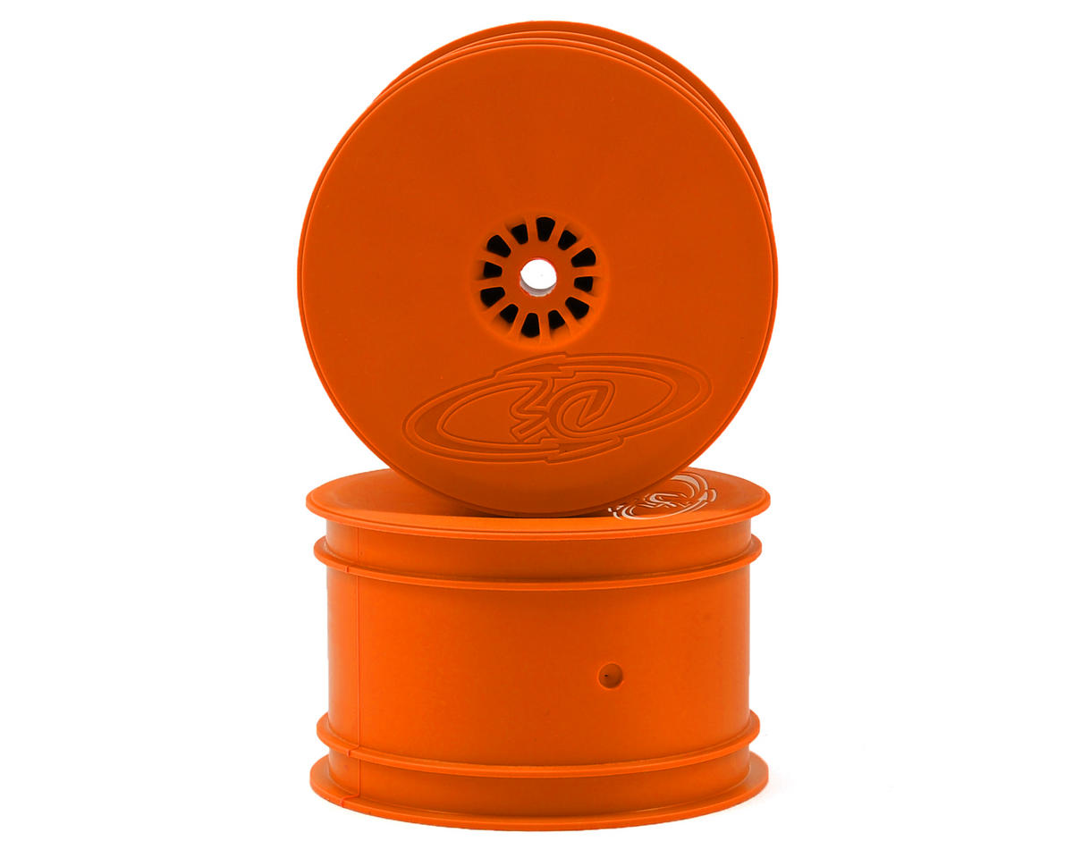 Speedline 2.2 1/10 Buggy Rear Wheels (2) (XB4/DEX210/DEX410) (Orange) by DE Racing